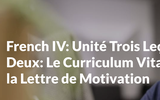 French IV: The Curriculum Vitae and the Cover Letter Lesson