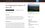 Investigating the Impacts of Palm Oil