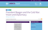 President Reagan and the Cold War: Vision and Diplomacy