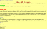 Gibberish Sentences