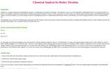 Chemical Analysis by Redox Titration