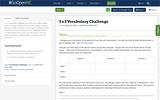 3 x 3 Vocabulary Challenge