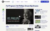 Full Program | Vel Phillips: Dream Big Dreams