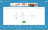 Dividing Mixed Numbers with Unlike Denominators