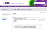 1st Grade - Act. 14: Who's in Your Family