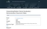 Interpreting Modern Dance Vocabulary