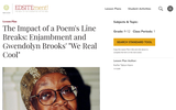 """The Impact of a Poem's Line Breaks: Enjambment and Gwendolyn Brooks' """"We Real Cool"""""""