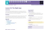 CS Fundamentals 2.10: The Right App
