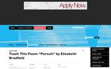 "Incredible Bridges: ""Pursuit"" by Elizabeth Bradfield"