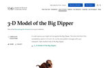 3-D Model of the Big Dipper