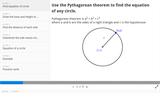 Circles: Derive Equation of a Circle