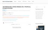 Air Pressure & Wind Speeds