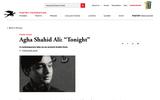 "Agha Shahid Ai: ""Tonight"""