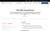 The 26th Amendment