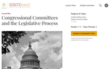 Congressional Committees and the Legislative Process