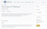 "The Case of ""Palmyra"""
