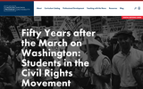 Fifty Years after the March on Washington: Students in the Civil Rights Movement