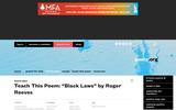 """Teach This Poem: """"Black Laws"""" by Roger Reeves"""