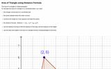 Area of Triangle Using Distance Formula