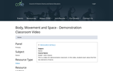 Body, Movement and Space-Demonstration Video