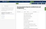 Accommodation keys for modified tests and assignments