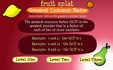 Fruit Splat-Greatest Common Factor