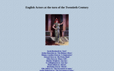 English Actors at the Turn of the Twentieth Century