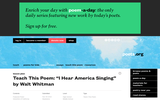 "Teach this Poem: ""I Hear America Singing"" by Walt Whitman"