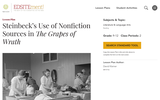 """Steinbeck's Use of Nonfiction Sources in """"The Grapes of Wrath"""""""