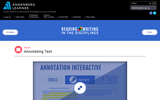 Annotating Text Interactive Resource