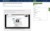 Content Curation Groups Video Directions