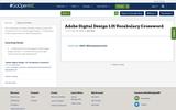 Adobe Digital Design 1.00 Vocabulary Crossword
