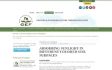 Absorbing Sunlight in Different Colored Soil Surfaces