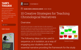 10 Creative Strategies for Teaching Chronological Narratives