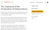 The Argument of the Declaration of Independence