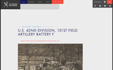 Interactive Photo: U.S. 42nd Division, 151st Field Artillery Battery F