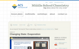 Changing State - Evaporation: Lesson Plan