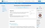 Introduction to Chemical Equilibrium