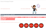 Online Learning Space: Canvas Homepage Template