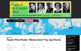 "Teach This Poem: ""Below Zero"" by Jay Parini"