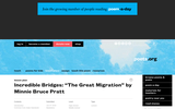 "Incredible Bridges: ""The Great Migration"" by Minnie Bruce Pratt"