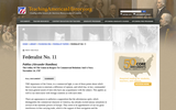 Federalist No. 11 Publius (Alexander Hamilton)
