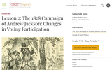 Lesson 2: The 1828 Campaign of Andrew Jackson: Changes in Voting Participation