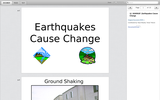 Forces of Nature: Inside and Out - Earthquakes Cause Change (presentation)