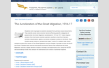 The Acceleration of the Great Migration, 1916-17