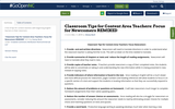 Classroom Tips for Content Area Teachers: Focus for Newcomers REMIXED