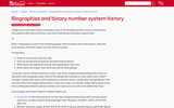 Biographies and binary number system history