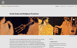 Greek Art, Greek Gods and Religious Practices