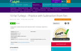 10 Fat Turkeys-Practice with Subtraction From Ten