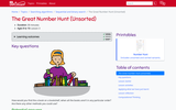 The Great Number Hunt (Unsorted) (Ages 8-10)